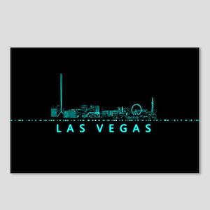 Digital Cityscape: Las Ve Postcards (Package of 8)