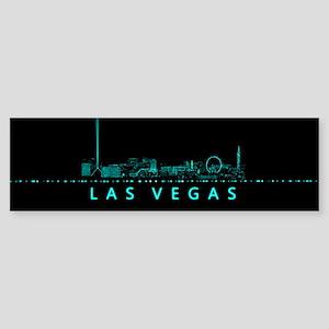 Digital Cityscape: Las Vegas, Nev Sticker (Bumper)