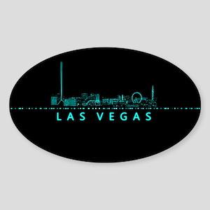 Digital Cityscape: Las Vegas, Nevad Sticker (Oval)