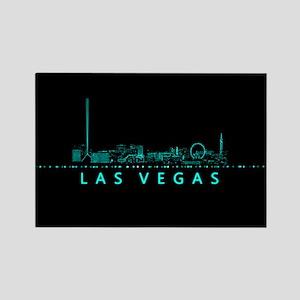 Digital Cityscape: Las Vegas, Nev Rectangle Magnet