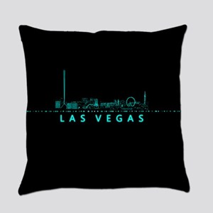 Digital Cityscape: Las Vegas, Neva Everyday Pillow