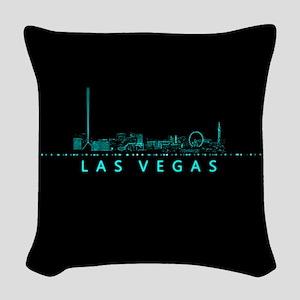 Digital Cityscape: Las Vegas, Woven Throw Pillow