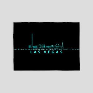 Digital Cityscape: Las Vegas, Nevad 5'x7'Area Rug