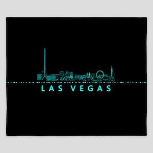 Digital Cityscape: Las Vegas, Nevada King Duvet