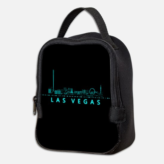 Digital Cityscape: Las Vegas, N Neoprene Lunch Bag