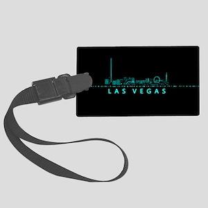 Digital Cityscape: Las Vegas, Ne Large Luggage Tag