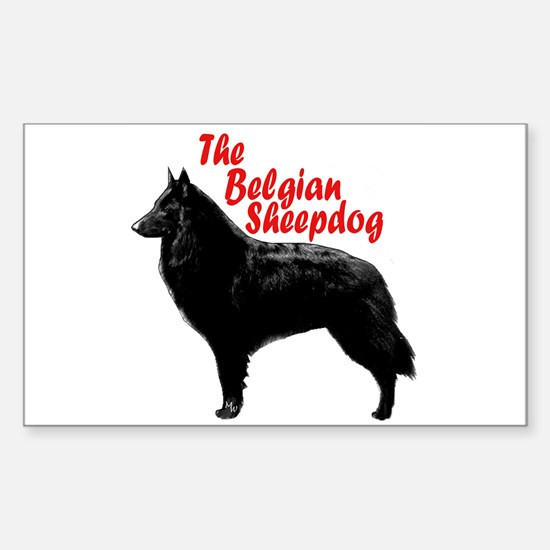 belgian sheepdog Rectangle Decal