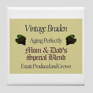 Vintage Braden Tile Coaster