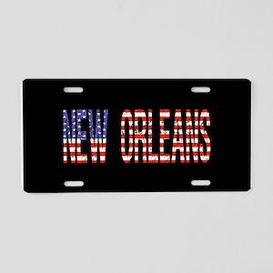 Patriotic New Orleans Aluminum License Plate