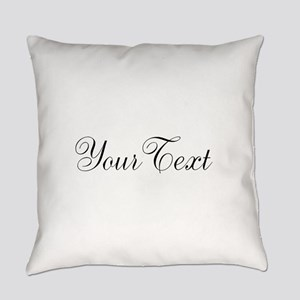 Personalizable Black Script Everyday Pillow