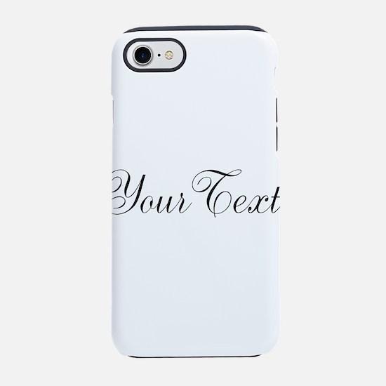 Personalizable Black Script iPhone 8/7 Tough Case