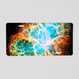 Crab Nebula Aluminum License Plate