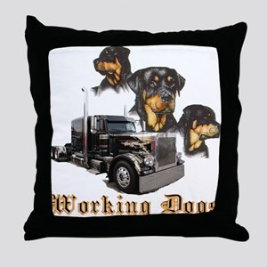 Working Dogs Throw Pillow