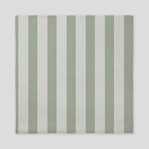 Sage Green Stripes Queen Duvet