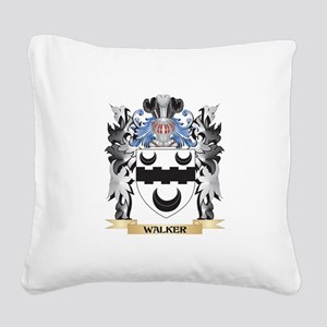 Walker Coat of Arms - Family Square Canvas Pillow