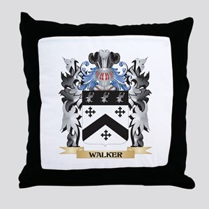 Walker Coat of Arms - Family Crest Throw Pillow