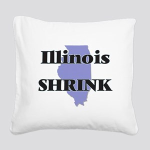 Illinois Shrink Square Canvas Pillow