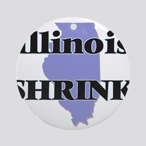 Illinois Shrink Round Ornament