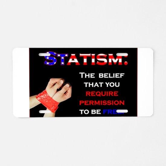 Statism Aluminum License Plate