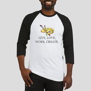 LIVE, LOVE, WORK, CREATE - ARTIST, Baseball Jersey