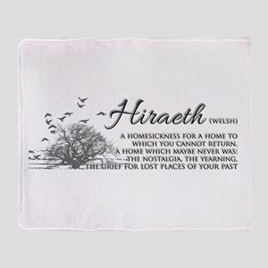 Hiraeth Welsh Nostalgia Home Throw Blanket