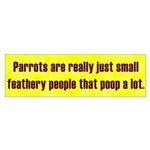 Small Feathery People Bumper Sticker