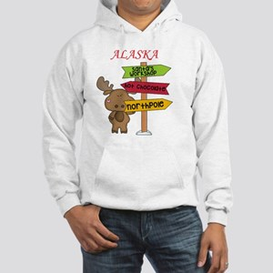 Alaska Moose What Way To The Nor Hooded Sweatshirt