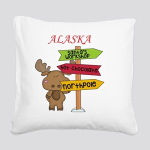 Alaska Moose What Way To The  Square Canvas Pillow