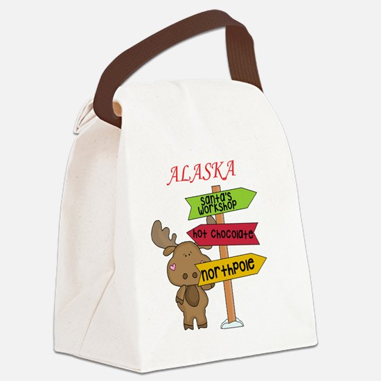 Alaska Moose What Way To The Nort Canvas Lunch Bag
