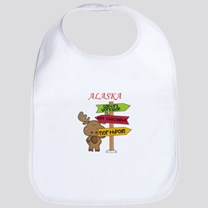 Alaska Moose What Way To The North Pole Bib