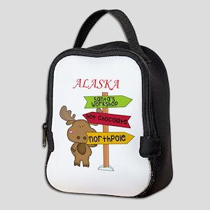 Alaska Moose What Way To The No Neoprene Lunch Bag