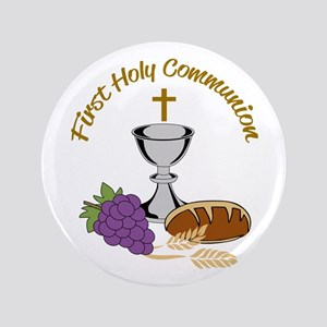 FIRST HOLY COMMUNION Button