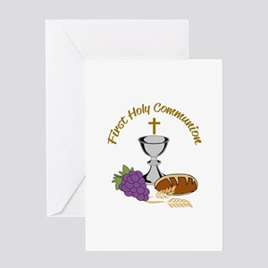 FIRST HOLY COMMUNION Greeting Cards