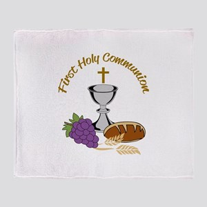 FIRST HOLY COMMUNION Throw Blanket