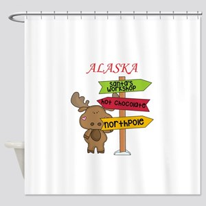 Alaska Moose What Way To The North Shower Curtain