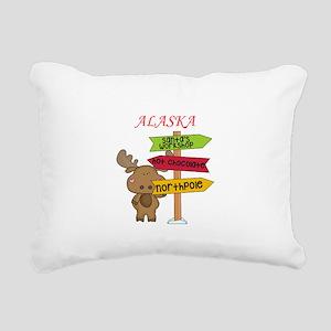 Alaska Moose What Way To Rectangular Canvas Pillow