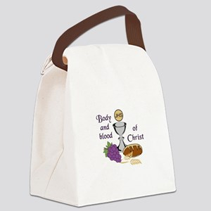 BODY AND BLOOD OF CHRIST Canvas Lunch Bag