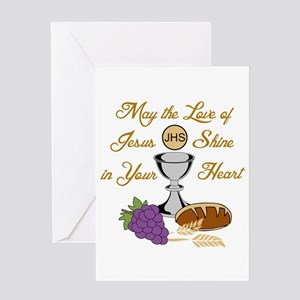 THE LOVE OF JESUS Greeting Cards