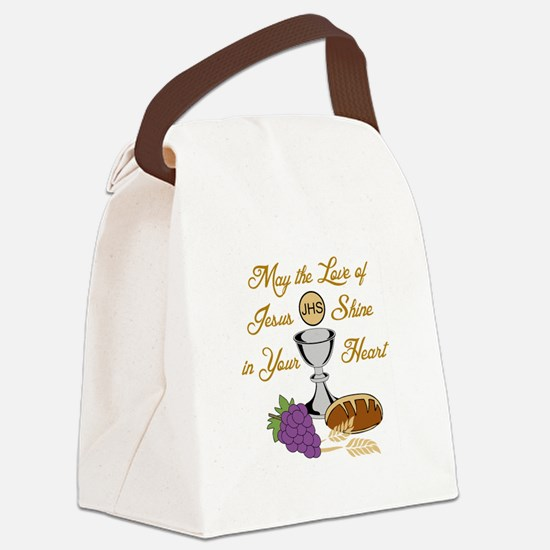 THE LOVE OF JESUS Canvas Lunch Bag