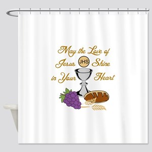 THE LOVE OF JESUS Shower Curtain