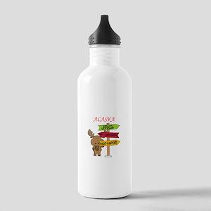 Alaska Moose What Way Stainless Water Bottle 1.0L