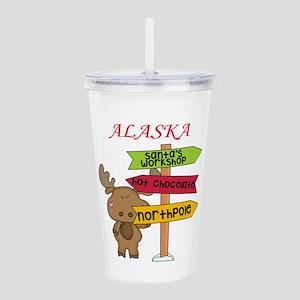 Alaska Moose What Way Acrylic Double-wall Tumbler