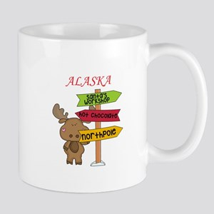Alaska Moose What Way To The North Pole Mugs