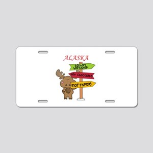 Alaska Moose What Way To Th Aluminum License Plate