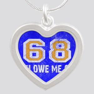 Sixty Eight You Owe Me One B Silver Heart Necklace