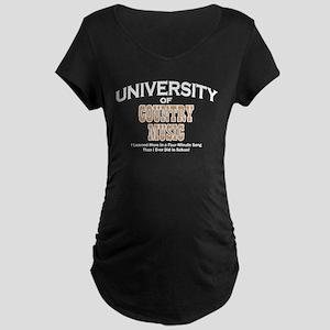 U of Country Music Maternity Dark T-Shirt