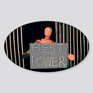 Manni: Fight the Power Sticker (Oval)