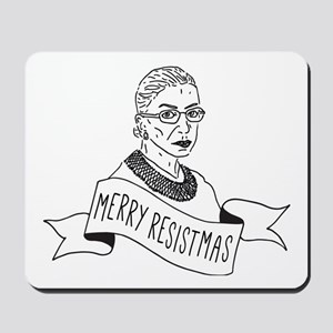 Merry Resistmas - Holiday for Feminists Mousepad