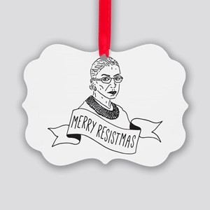 Merry Resistmas - Holiday for Fem Picture Ornament
