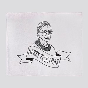 Merry Resistmas - Holiday for Femini Throw Blanket